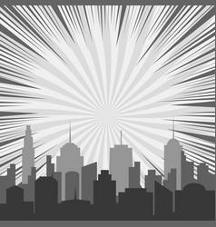 Monochrome comic background vector