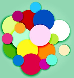 Multicolor circles and labels-3 vector image