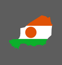 niger flag and map vector image