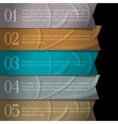 Numbered ribbons banners for design vector image