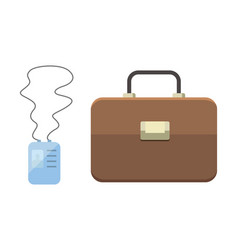 office personal and business icon briefcase vector image