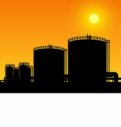 oil tank storage vector image