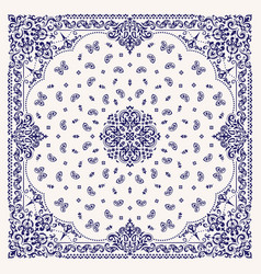 ornament bandana print traditional vector image