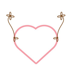 pink heart hang decoration vector image