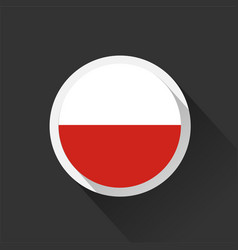 poland national flag on dark background vector image