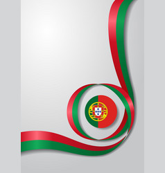 Portuguese flag wavy background vector