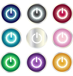 Power Button set vector image