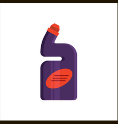 Purple plastic bottle isolated on white background vector