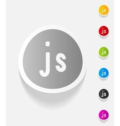 Realistic design element js vector
