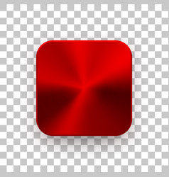 Red app icon template with metal texture vector