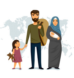 refugees infographic social assistance for vector image