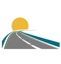 road transportation theme vector image