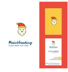 santa clause creative logo and business card vector image