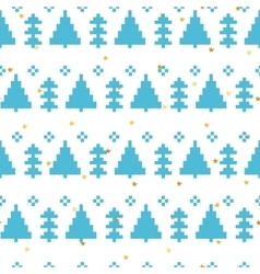 seamless pattern with New Year 8 bit vector image