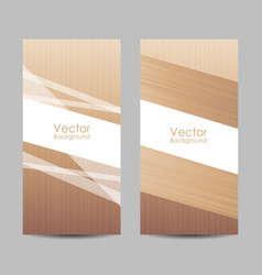 set banners with abstract striped background vector image