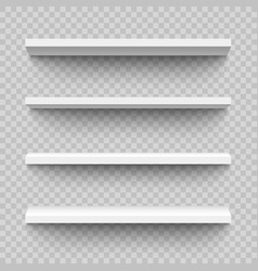set empty and blank realistic 3d white shop vector image