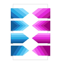 Set of Bookmarks with Texture vector