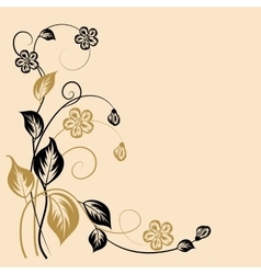 Simple floral background vector