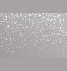 snow falling winter snowflakes christmas new year vector image