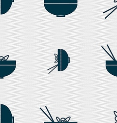 Spaghetti icon sign Seamless pattern with vector