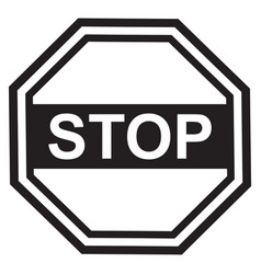 stop sign design black vector image