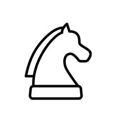 Strategy chess icon vector