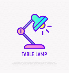 table lap thin line icon vector image