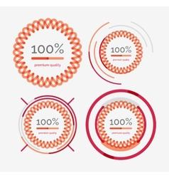 Thin line neat design logo set premium quality vector