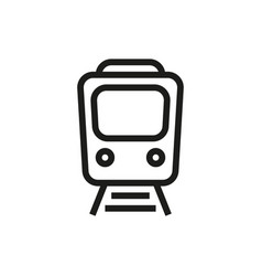Train icon on white background vector