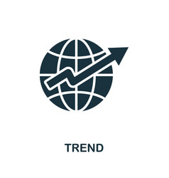 Trend icon simple element from business vector