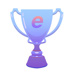 trophy esports cup reward cup on isolated vector image