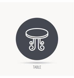 Vintage table icon Furniture desk sign vector