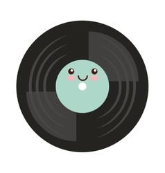 Vinyl disc isolated icon vector