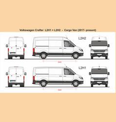 Volkswagen crafter van l2h1 l2h2 2017-present vector