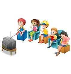 Watching TV vector image vector image