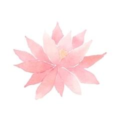 Watercolor lotus flower pink vector
