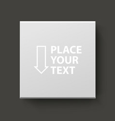 white box for logo or text vector image