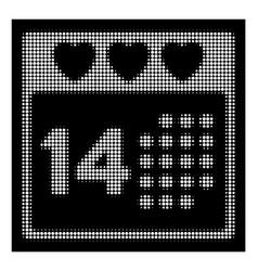 white halftone valentine love day icon vector image