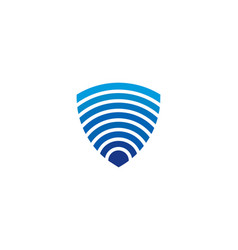 wifi shield logo icon design vector image