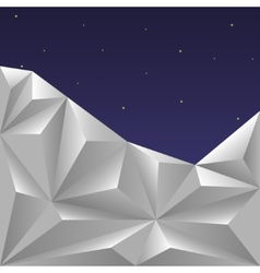 Winter polygonal sky vector