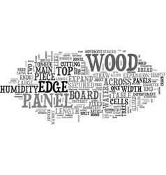 Wood panels and humidity text word cloud concept vector
