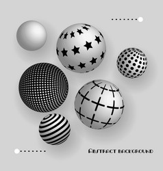 Abstract 3d balls floating in the air vector