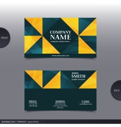 Abstract creative business card vector image vector image
