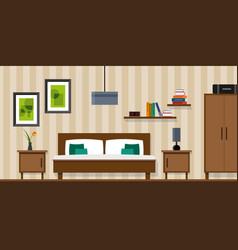 Bedroom interior - flat style vector