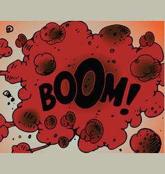 comic book boom vector image