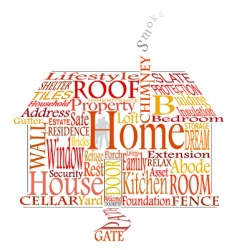 home words vector image vector image