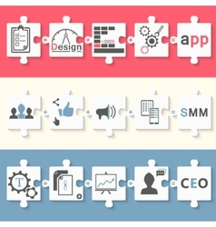 Infographics set of app seo and smm vector image vector image