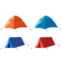 two designs of camping tent vector image