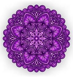 violet floral ornament circular pattern vector image