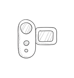 Digital video camera sketch icon vector image